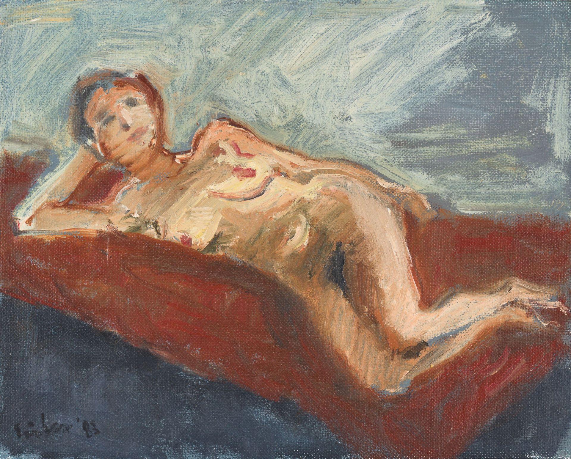 Georg Eisler-Lying Nude
