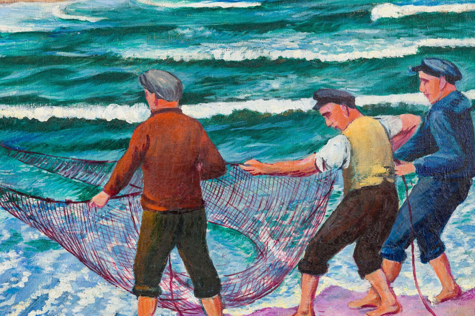 Otto Möller-Fishermen hauling in the Net