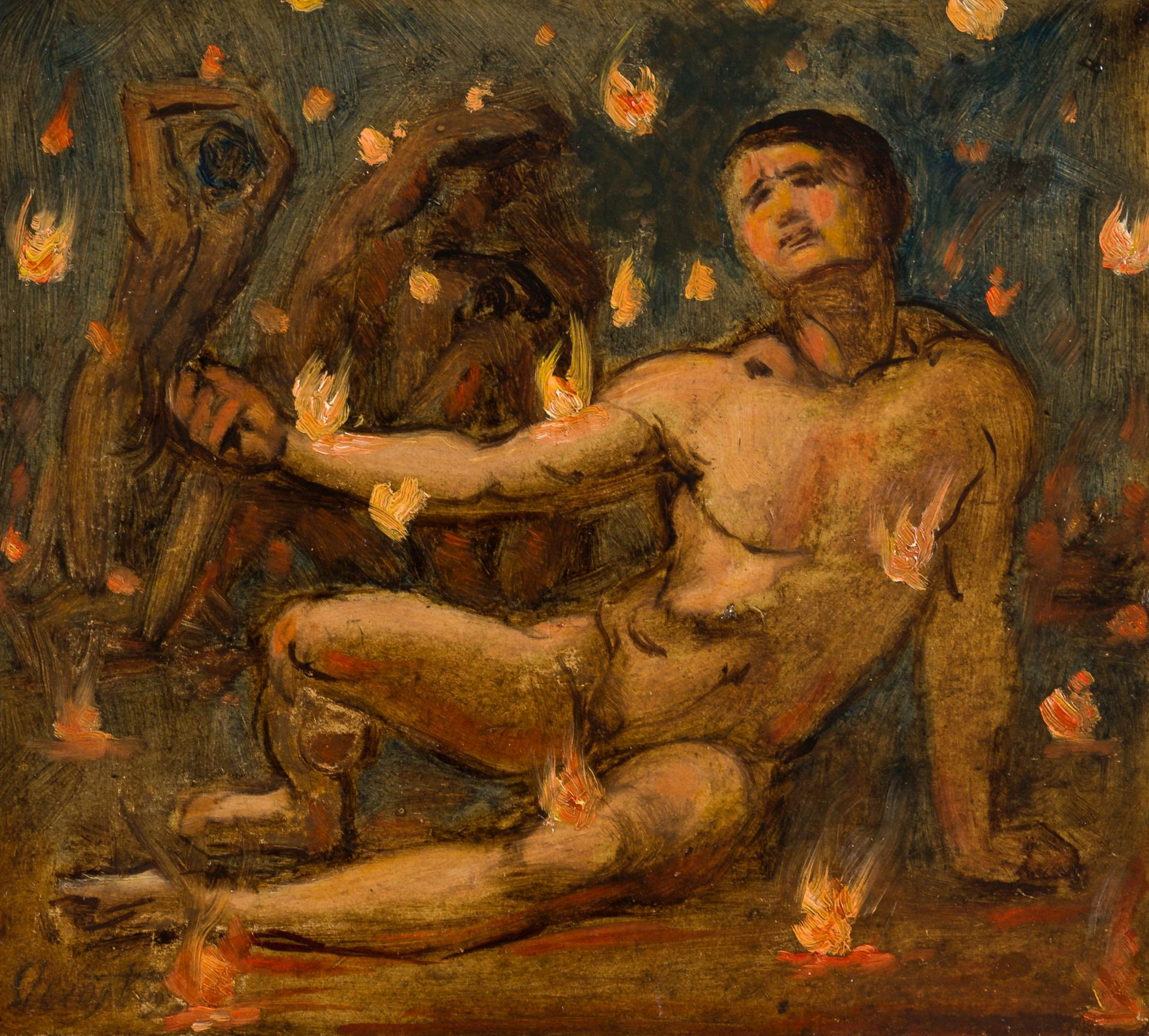 Max Slevogt-In Purgatory