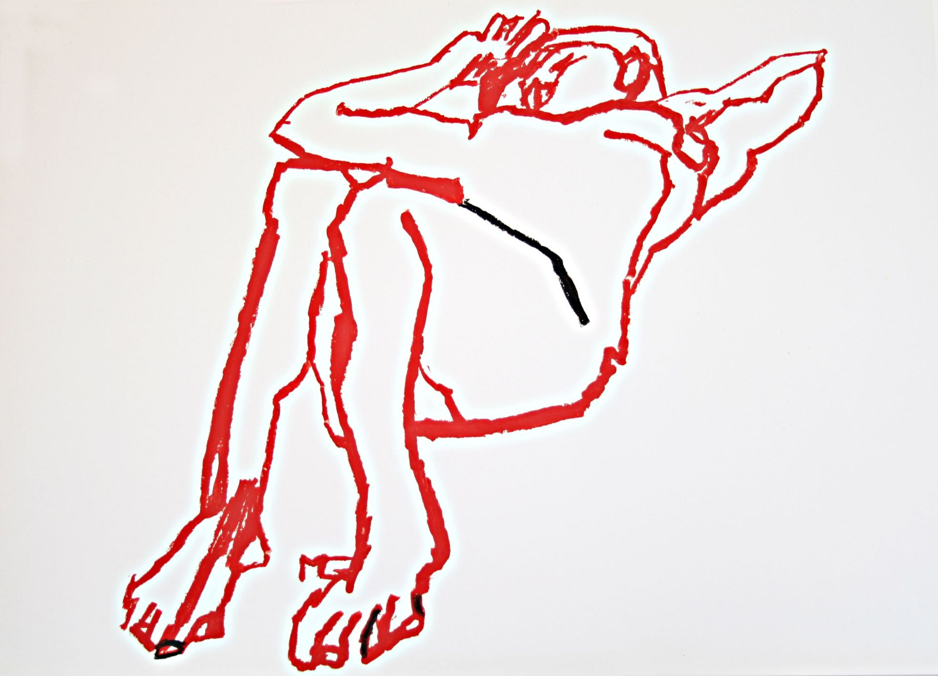 Maria Greiner-Act lying on his back II