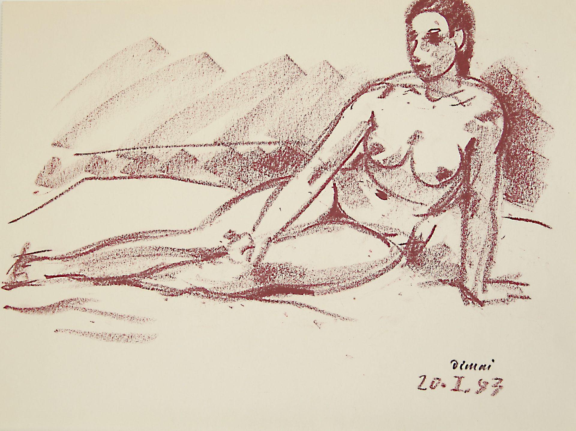 Rudolf Dimai-Female nude