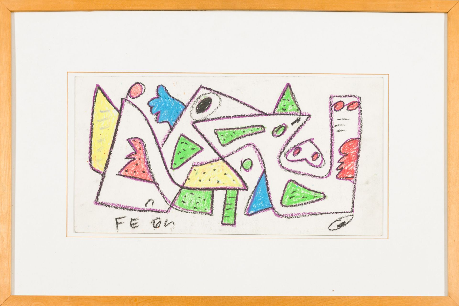 Franz Ecker-Abstract Composition 1964