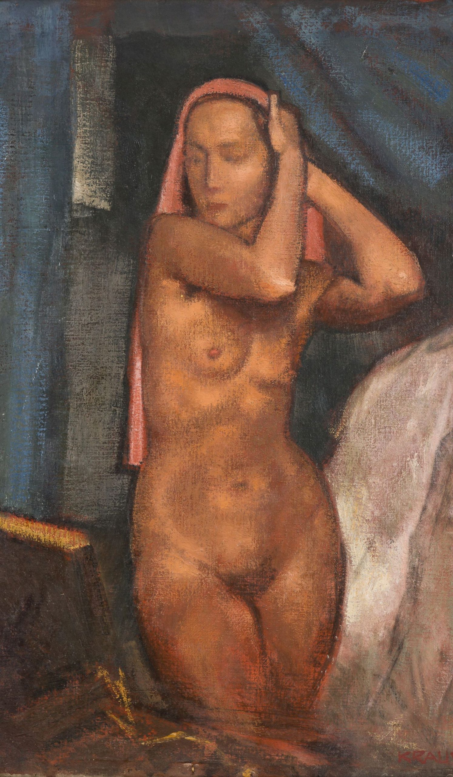 Krause Heinrich-Nude with Scarf