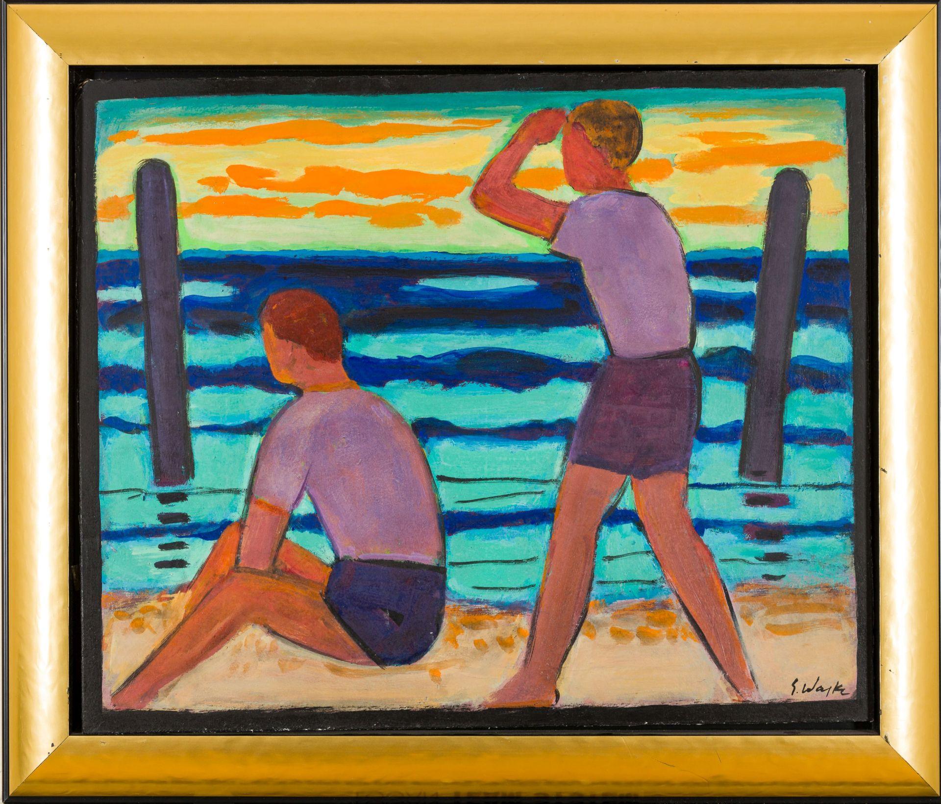 Erich Waske-Fisher boys on the beach