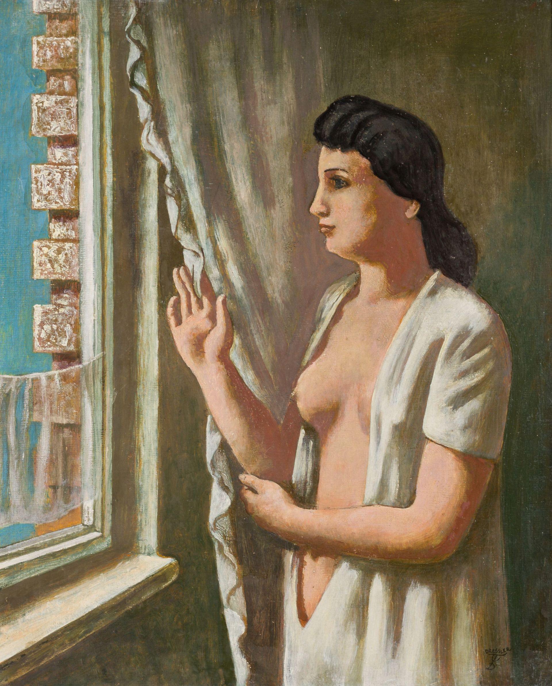August Wilhelm Dressler-Behind the Curtain