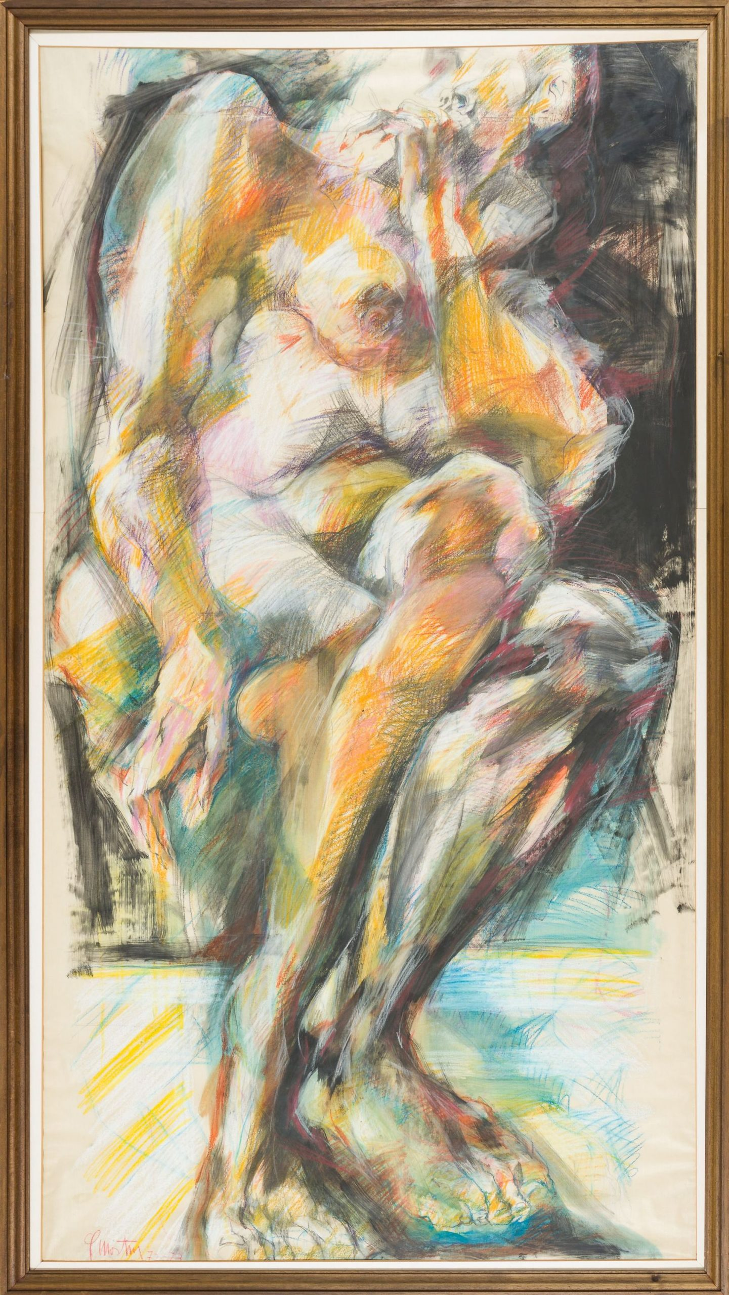 Fritz Martinz-Sitting Nude