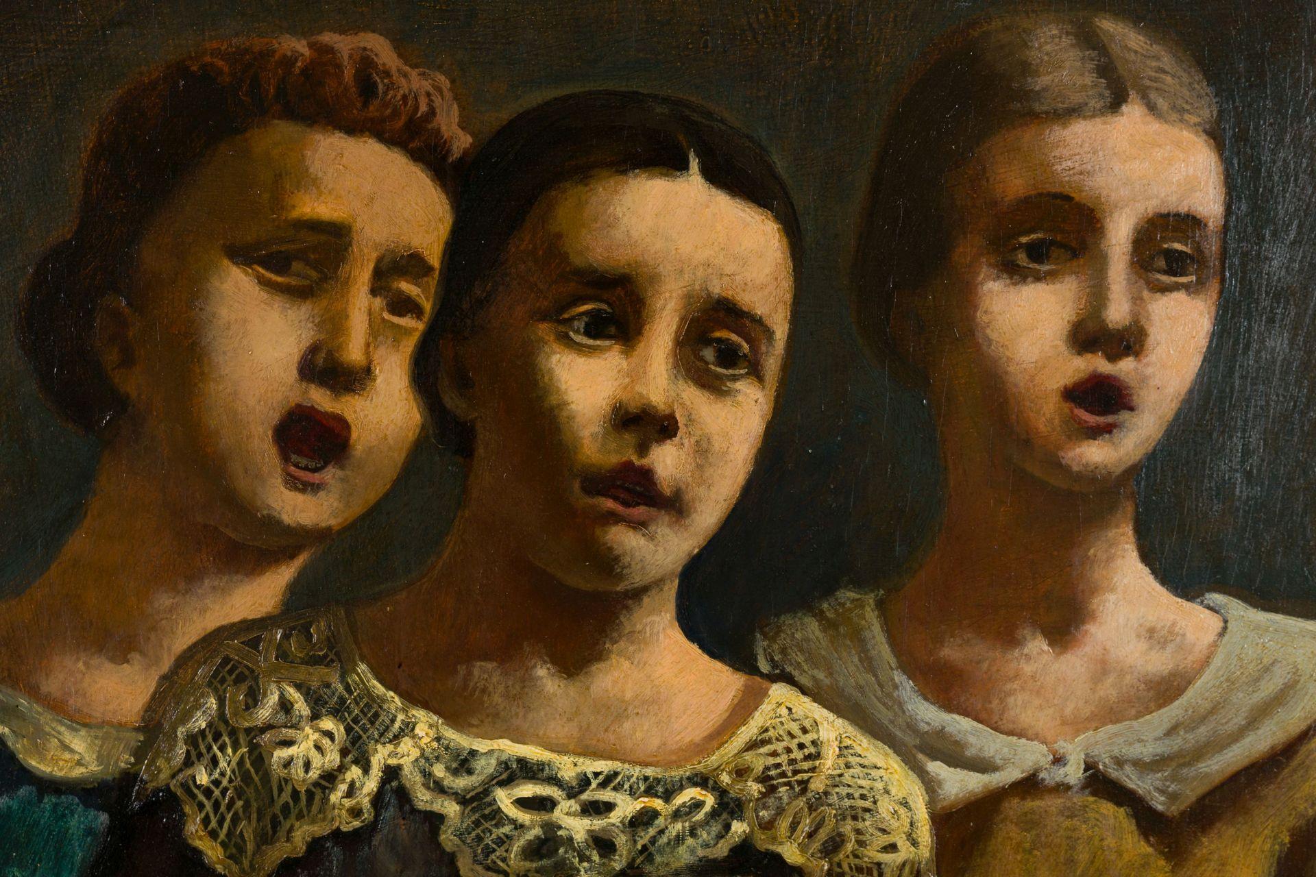 August Wilhelm Dressler-Three singing Girls