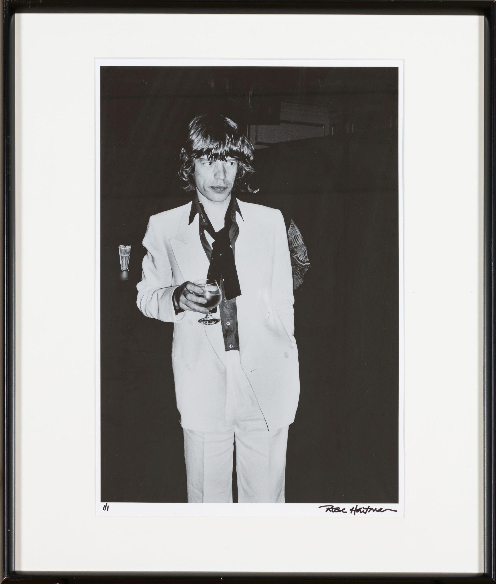 Rose Hartman-Mick Jagger at Biancas 30th Birthday at Club 54 - Vintage Print