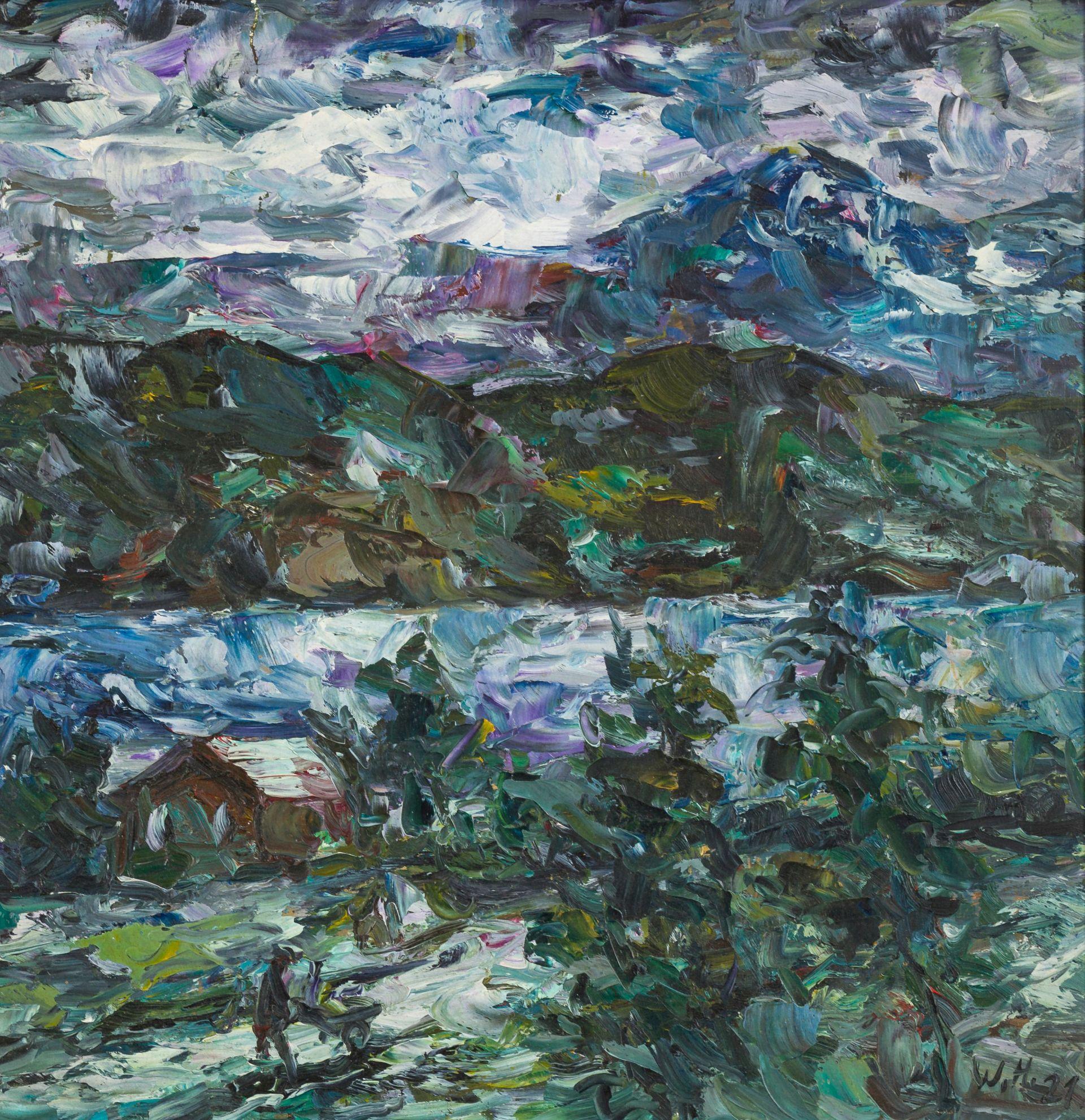 Wolf Hoffmann-Mountain landscape