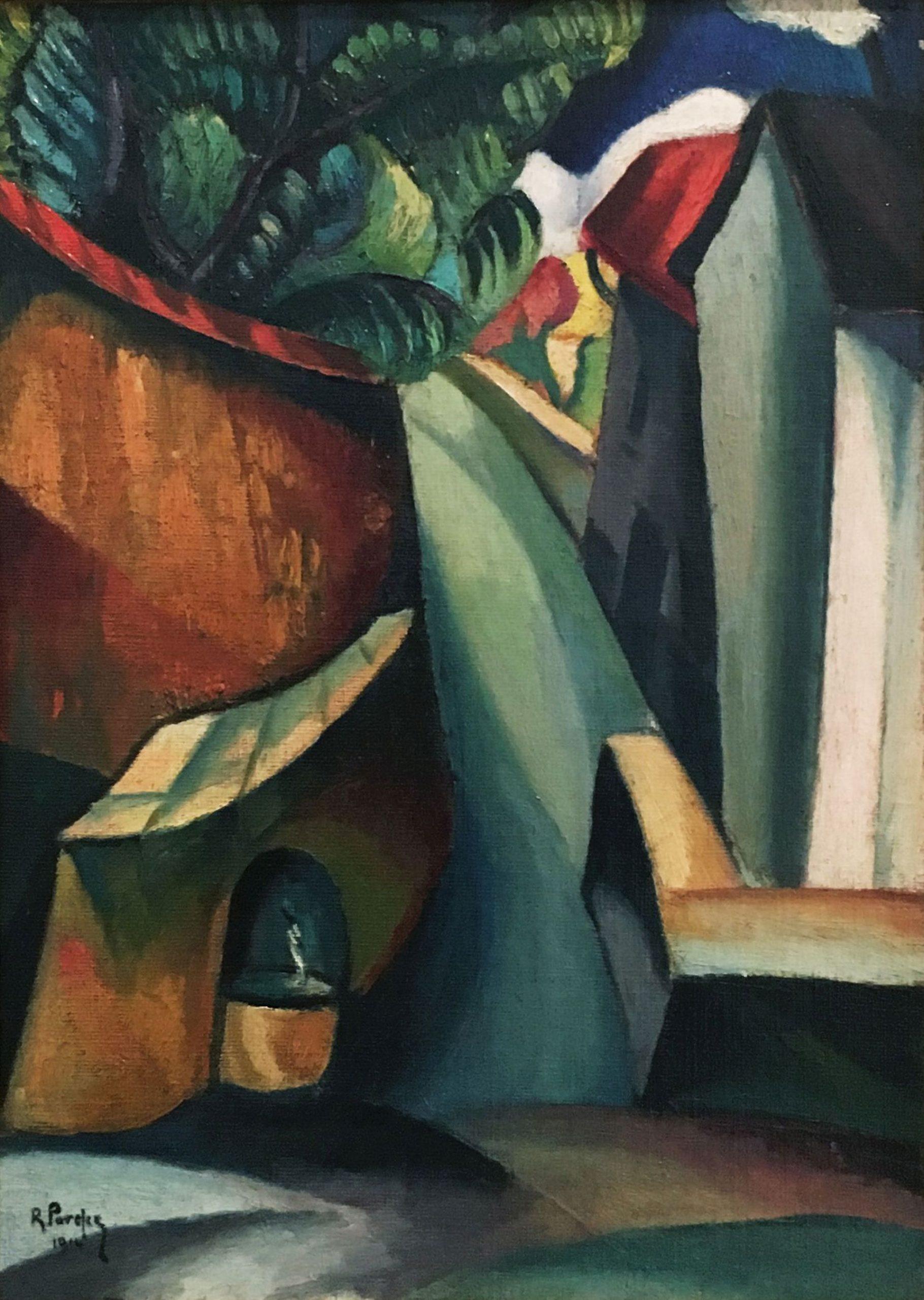 Renato Paresce-Cubist village