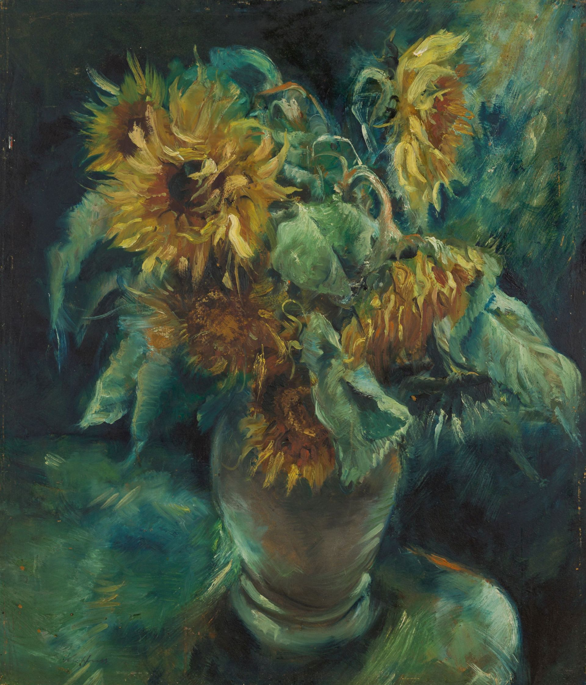 Paul Kuhfuss-Sunflower Still Life