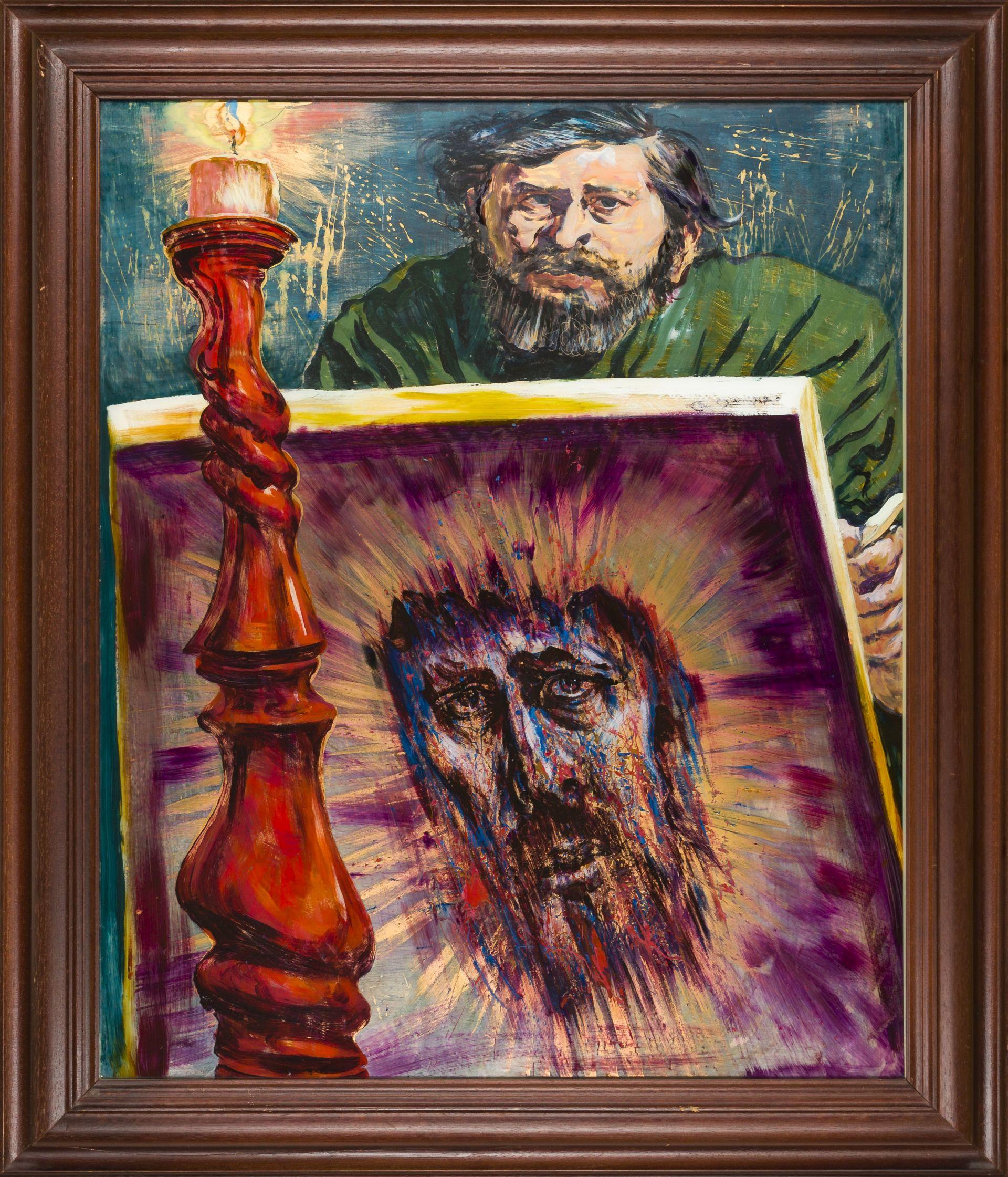 Fritz Aigner-Self Portrait with Ecce Homo